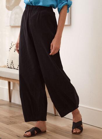 Charlie B - Wide Leg Pull On Pants, Black,  spring summer 2021, bottoms, pull on, flowy,