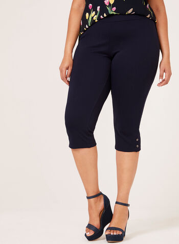 Picadilly – Pull-On Capri Pants, Blue, hi-res