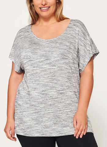 Heather Print Jersey Top , Grey, hi-res