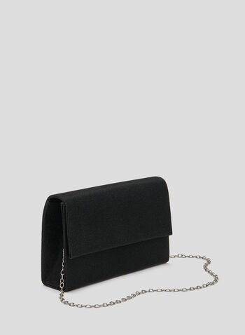 Glitter Evening Clutch, Black, hi-res