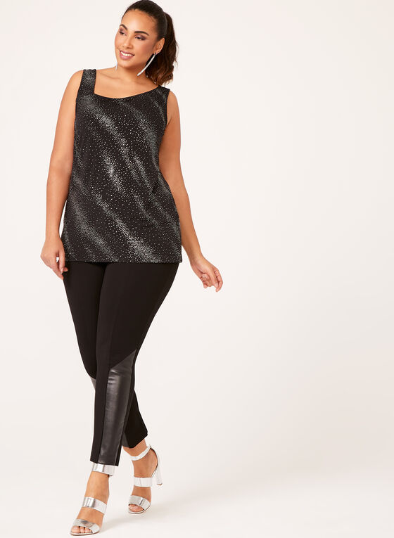 Sparkle Embellished Jersey Tunic, Black, hi-res