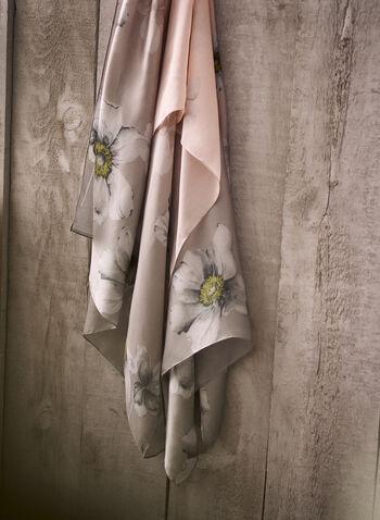 Foulard ombré à motif floral, Rose,  foulard, écharpe, mousseline, léger, motif floral, imprimé, ombré, printemps été 2021