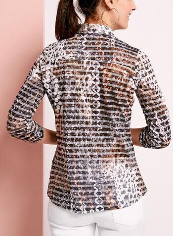 Animal Print Button Down Cotton Shirt, , hi-res