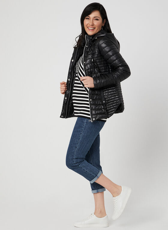 Novelti - Quilted Coat, Black, hi-res