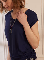 Tie Detail T-Shirt, Blue