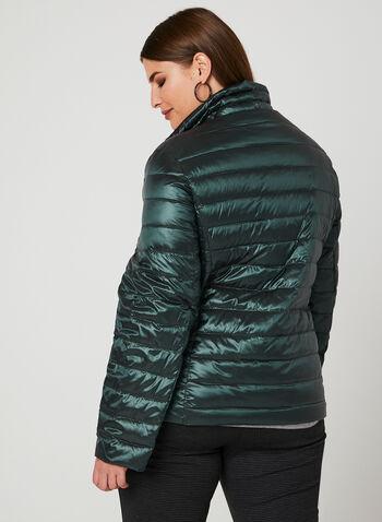 Nuage - Packable Down Coat , Green, hi-res