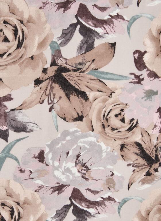 Écharpe fleurie , Blanc cassé