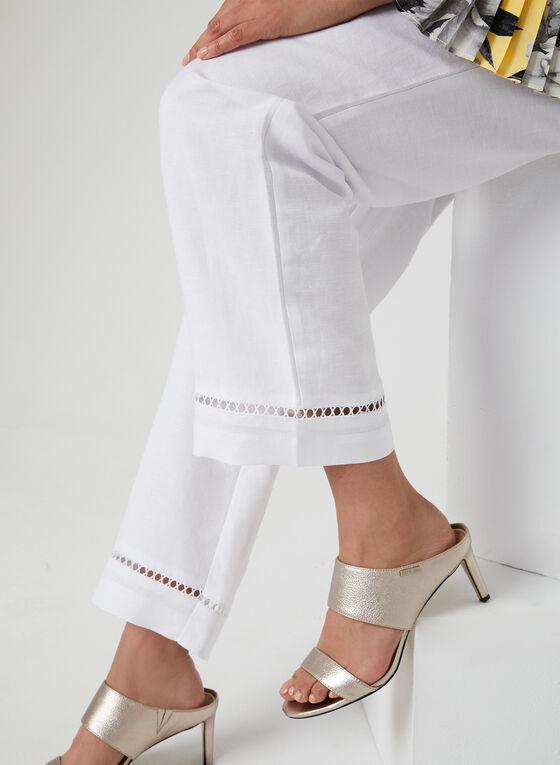 Pantalon à coupe moderne et jambe large, Blanc