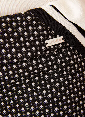 City Fit Slim Leg Pull-On Print Pants, Black, hi-res