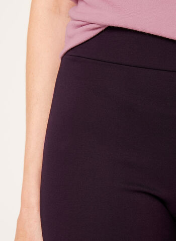 Pantalon pull-on en point de Rome à jambe étroite, Violet, hi-res