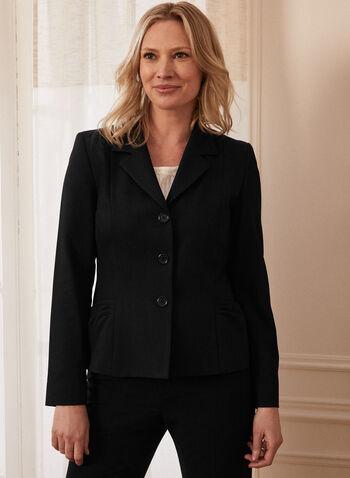 3 Button Notch Collar Jacket, Black,  jacket, notch collar, 3 buttons, spring summer 2021