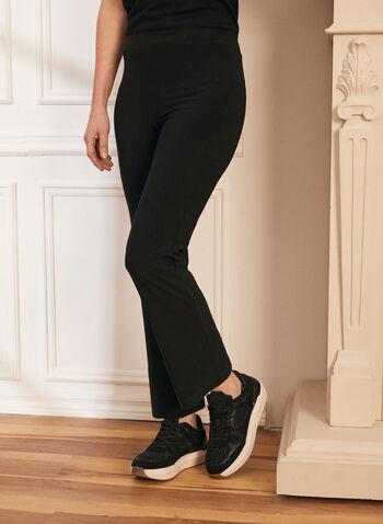 Pantalon coupe moderne à jambe droite, Noir,  pantalon, coupe moderne, pull-on, jambe droite, printemps été 2021, fait au canada