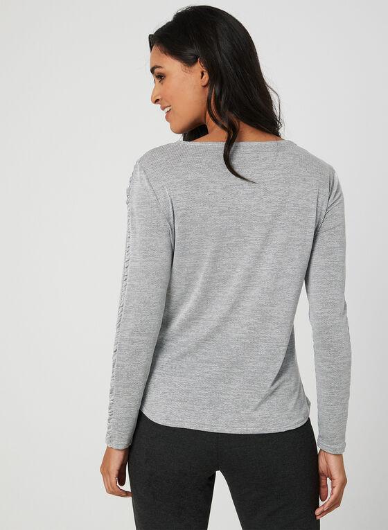 Long Sleeve Top, Grey, hi-res