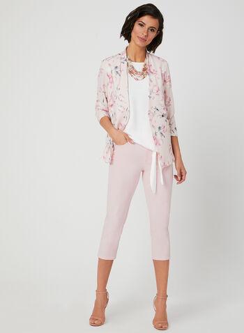 Floral Print Blazer, Multi, hi-res,  open front, crepe, ¾ sleeves, 3/4 sleeves, spring 2019
