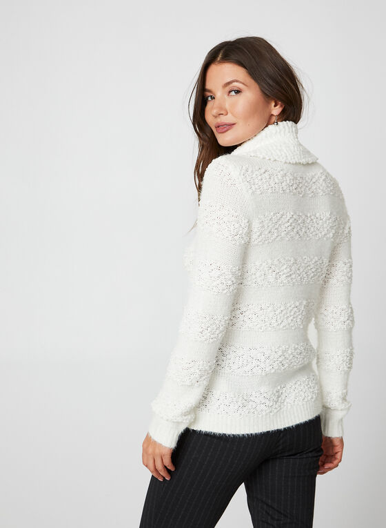 Cowl Neck Sweater, Off White, hi-res