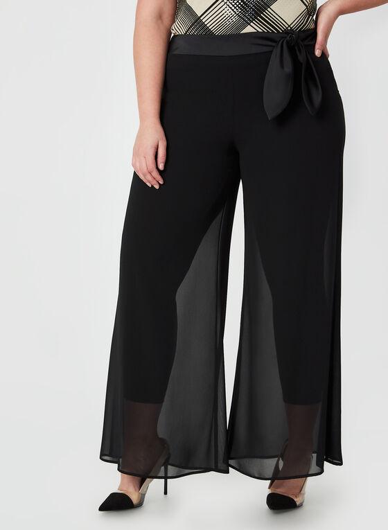 Joseph Ribkoff - Pantalon à mousseline, Noir