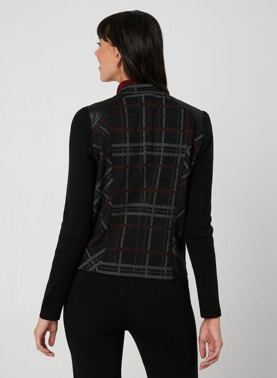 Plaid Print Jacket, Black, hi-res