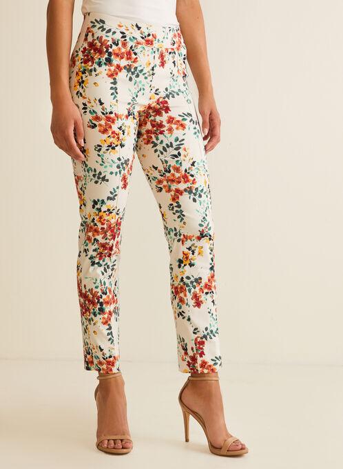 City Fit Floral Print Pants, Multi