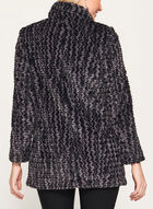 Novelti - Chevron Faux Fur Coat, Black, hi-res