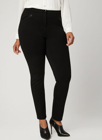 Signature Fit Slim Leg Pants, Black, hi-res