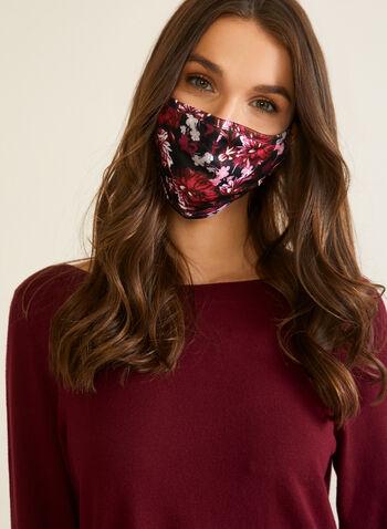Masque en tissu à motif floral, Rose,  automne hiver 2020, masque, tissu, réutilisable