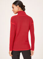 Elena Wang - Cowl Neck Sweater, Red, hi-res