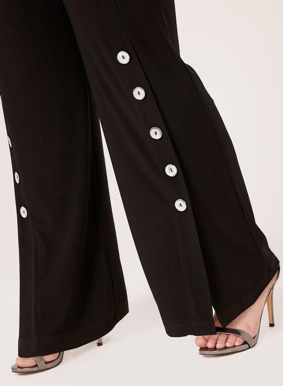 Frank Lyman - Wide Leg Pull-On Pants, Black