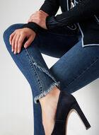 Charlie B - Jeans coupe moderne effrangé, Bleu