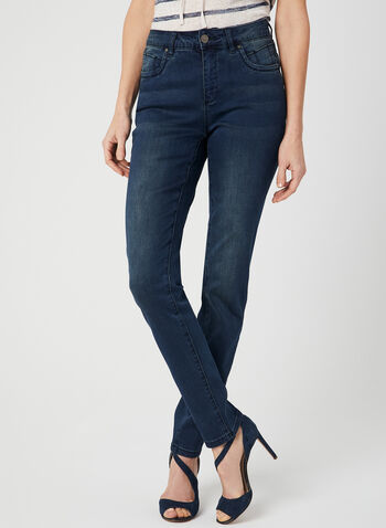 Simon Chang - Modern Fit Slim Leg Jeans, Blue, hi-res