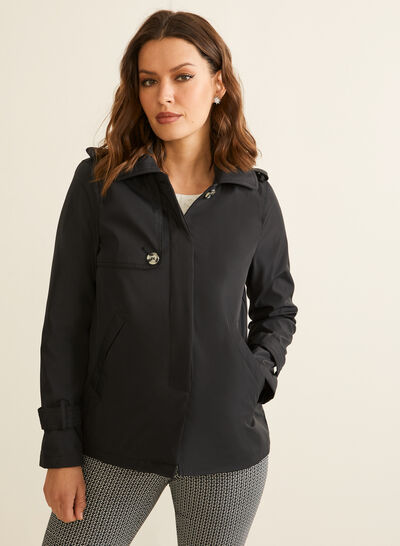 Novelti - Hooded A-line Coat
