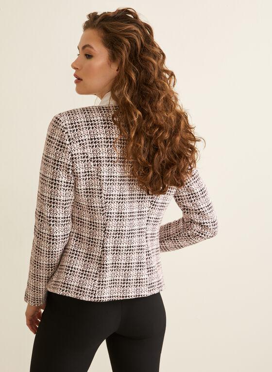 Abstract Plaid Pattern Jacket, Black
