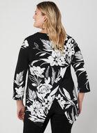 Joseph Ribkoff - Haut motif floral à zip, Noir