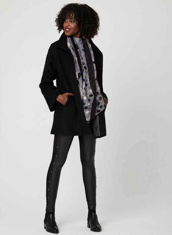 Manteau bouclé en laine , Noir, hi-res