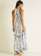 Sandra Darren - Abstract Print Maxi Dress, Blue