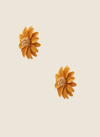 Flower Stud Earrings, Yellow,  stud earrings, flower, daisy, jewellery, accessories, spring summer 2020