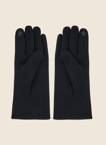 Gants avec boucles , Bleu,  gants, coton, boucle, accessoire, automne hiver 2020