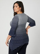 Stripe Print Jersey Tunic, Blue, hi-res
