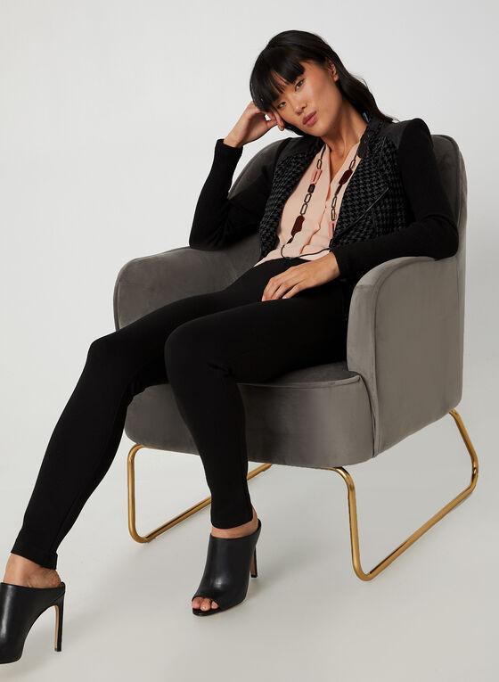 Vex - Veste style perfecto motif pied-de-poule, Noir