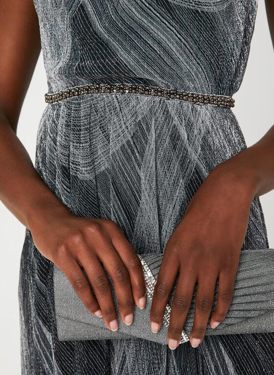 Metallic Fibre Cleopatra Neck Dress, Silver, hi-res