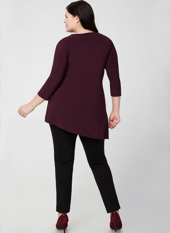 Joseph Ribkoff - Asymmetric Jersey Tunic, Purple
