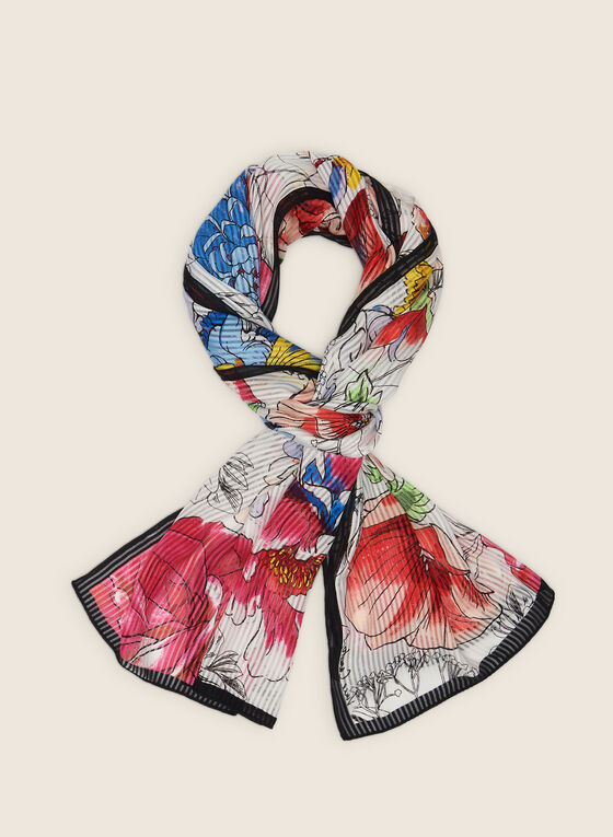 Vince Camuto - Pleated Floral Lightweight Scarf, Multi