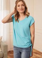 T-shirt à détail lien, Bleu