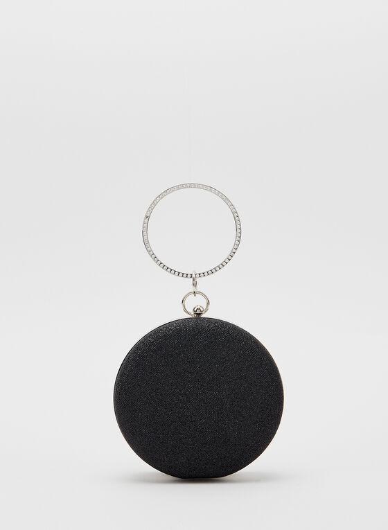 Sac pochette avec bracelet en pierres du Rhin , Noir
