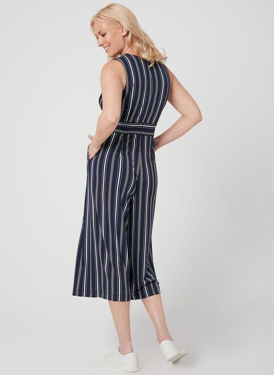 Jessica Howard - Combinaison rayée à jambe large, Bleu, hi-res