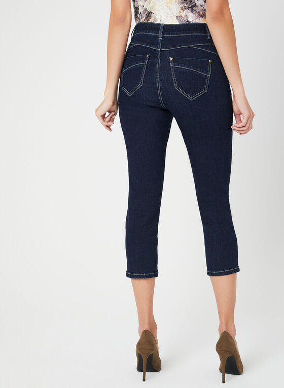 Modern Fit Slim Leg Capri Pants, Blue, hi-res