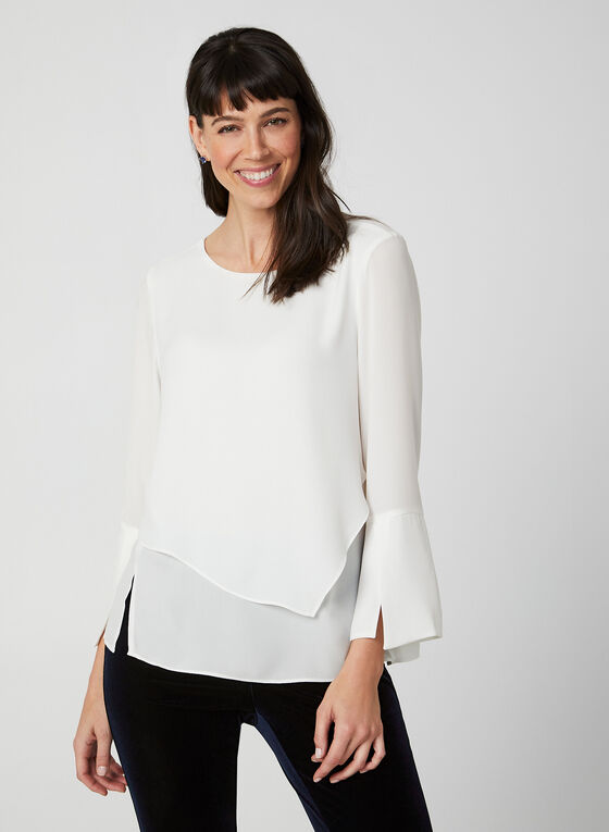 Bell Sleeve Blouse, Off White