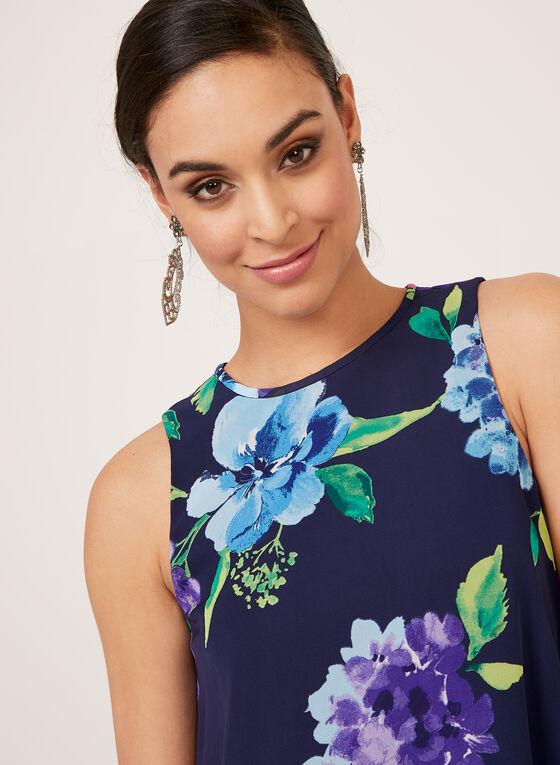 Jessica Howard - Robe droite florale sans manches , Bleu, hi-res