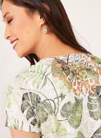Crochet Detail T-Shirt, Green, hi-res