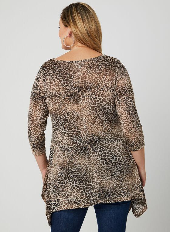 Leopard Print Tunic, Yellow, hi-res