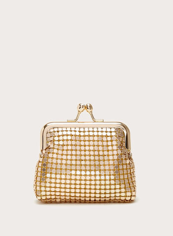 Mesh Coin Purse, Gold, hi-res
